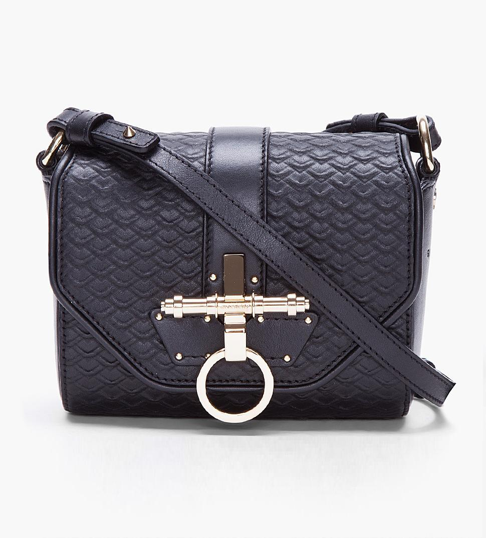 GIVENCHY // SMALL BLACK OBSEDIA BAG - ssense