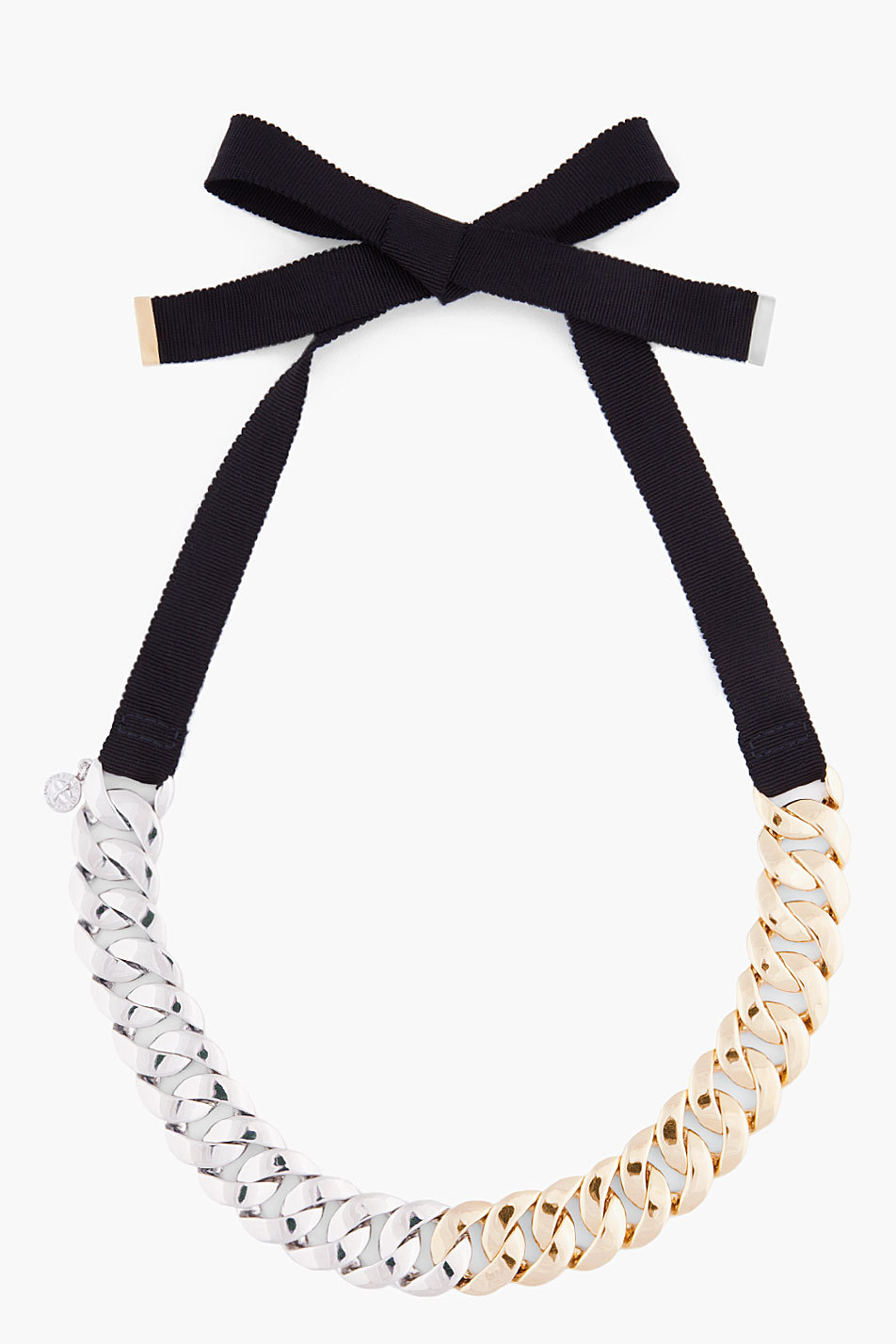 MARC BY MARC JACOBS // PRETTY TURNLOCK NECKLACE - ssense
