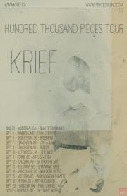 Happening now - Krief across Canada.   Sept 8th- Edmonton AB @ Artery Sept 10th- Lethbridge AB @ The Slice Sept 12th- Calgary AB @ Gateway- SAIT Sept 13th- Kelowna BC @ Streaming Cafe Sept 14th- Vancouver BC @ Waldorf Hotel Sept 15th- Victoria BC @ Alix Gooldin Theater Sept 18th- Regina SK- Artful Dodger Sept 22nd- Windsor ON- Phog Lounge Oct 6th – Toronto ON- The Drake Hotel