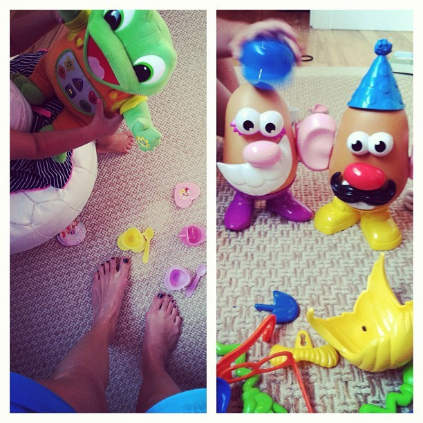 Tea party/potato head kind of a Saturday. #nannycity (Taken with Instagram)