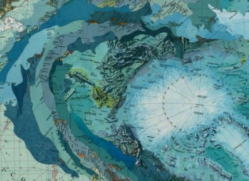 vvolare:  Map work collages by Matthew Cusick