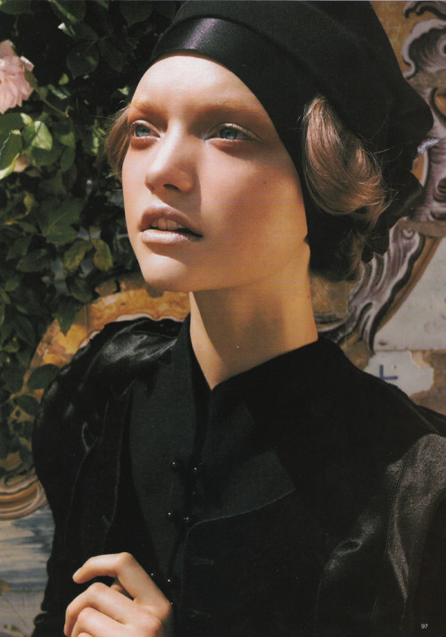 Seduced to the dark side, Gemma Ward for Vogue uk august 2005