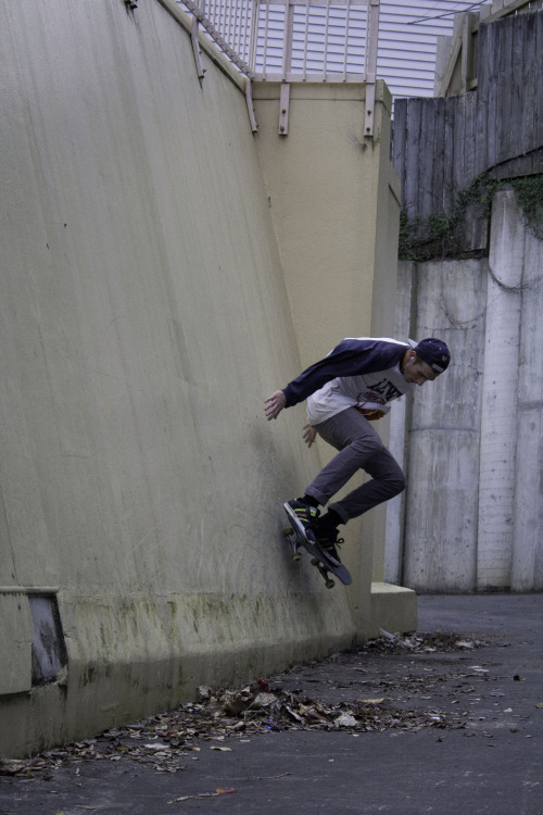 harrykidman:  Wall Nollie.