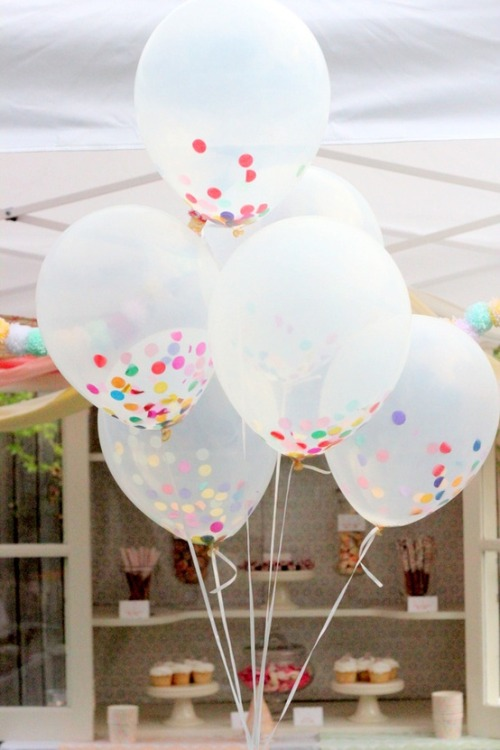 oh snap || confetti-filled balloons via hi-lighter inc. @ pinterest