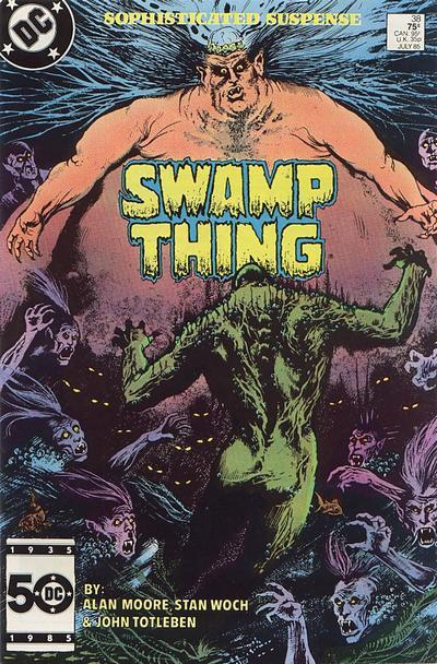 Saga of the Swamp Thing #38, July 1985, written by Alan Moore, penciled by Stan Woch