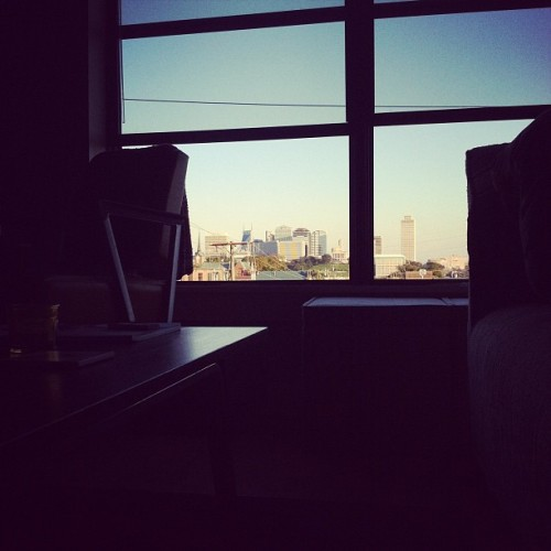 nashville-skyline:  bhibbs:  Windows up weather is the best weather. It's perfect in #nashville today (Taken with Instagram)  This is the 1000th skyline! Thanks friends of Nashville for capturing the city we all love.  My little blog has been churning out a unique skyline for over 2.5 years now.  It is a collection I'm proud of.Next goal is 500 followers and I'm close.