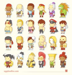 nintendocafe:  Street Fighter IV Scribblenauts by Egg Doodles