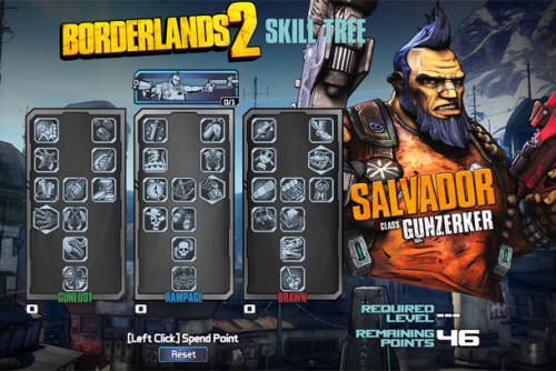 MAP YOUR MAYHEM -  BORDERLANDS 2 SKILL TREE CALCULATORS AVAILABLE ONLINE NOW The call back to Pandora is almost upon us and 2K Games and Gearbox have released the skill tree calculator for each of the characters in Borderlands 2.  Over at the game's main website you can map out your character's talents and we made it even easier to jump in with these direct links: Maya the Siren Axton the Commando Salvador the Gunzerker Zero the Assassin Hopefully this will sate your thirst for vault hunting for a few more weeks until we get our hands on the highly anticipated Borderlands 2 when it hits this September 18 on Xbox 360, PlayStation 3 and PC.  You can still get your pre-orders in on the Deluxe Vault Hunter's Editions over at Amazon but only for a short time.  Don't miss out especially after the Ultimate Loot Chest Editions that sold out.   (via otlgaming)