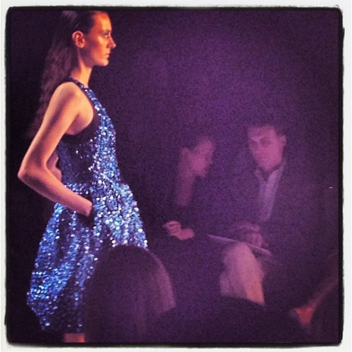cfda:  Blue crushing on @moniquelhuillier's collection (Taken with Instagram)