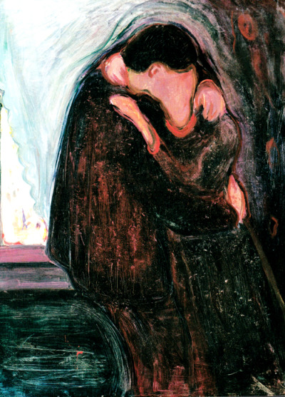 aquaticwonder:  Edvard Munch, The Kiss, 1897  This.
