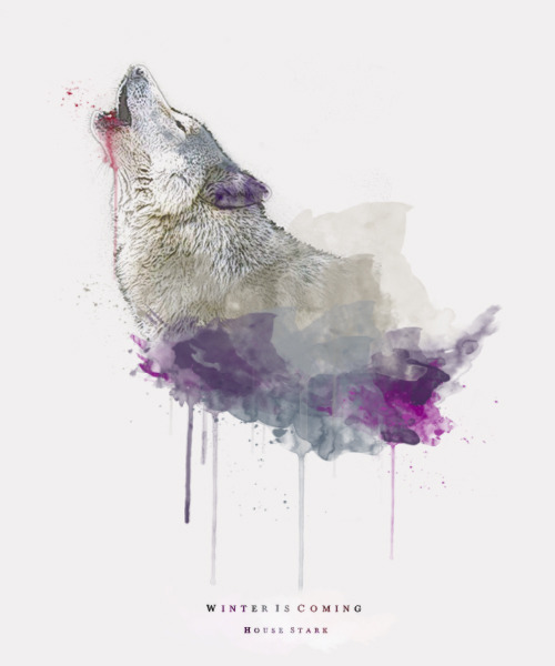 beauvoire:  ASOIAF Watercolor - House Stark