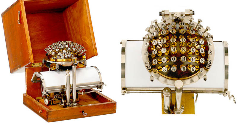 collective-history:  The Writing Ball ca. 1865 The Hansen Writing Ball was invented in 1865 by the Rasmus Malling-Hansen. The writing ball was first patented and entered production in 1870, and was the first commercially produced typewriter. Is it just me or does this look like the greatest engagement ring ever?  via