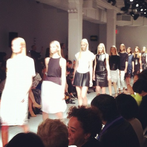What was black, white, and totally wearable? Everything at @tibipr #nyfw #fashion #runway  (Taken with Instagram)
