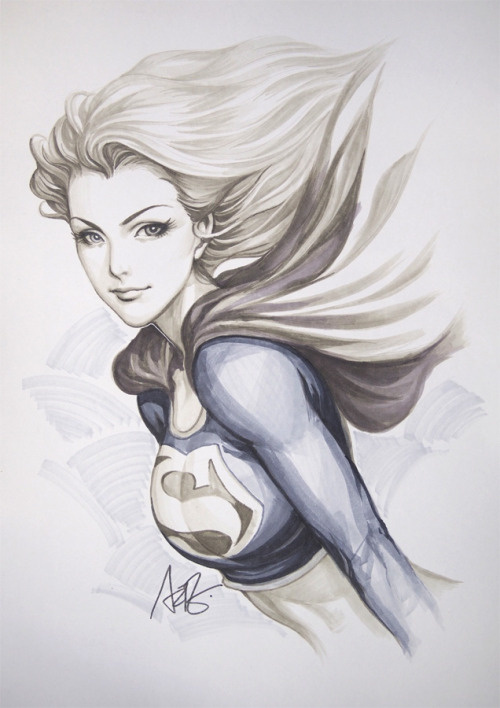 Supergirl Original. Cool drawing by the amazing Artgerm.What's the difference? More supergirl art? see it here.
