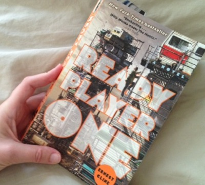 "notentirely:  my weekend read: ready player one, by ernest cline a really fun read with loads of inventive detail. i'm only half-way through, but i'm sure i'll be passing our copy around to all the geeks i know. ""willy wonka meets the matrix"" indeed.  This sounds really good. I listened to the audio book sample and I'm not that crazy about the narration. I'll probably just get it on the Kindle."