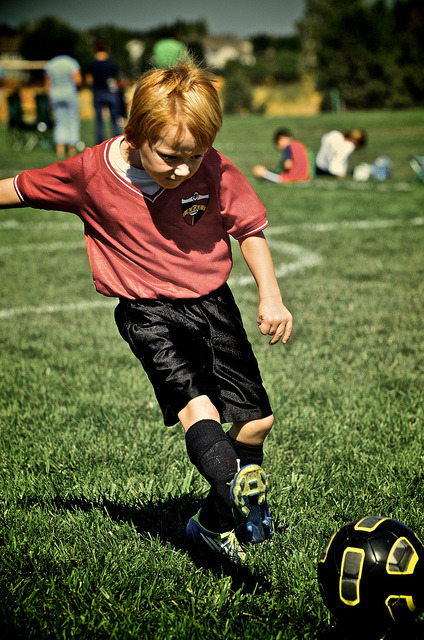252/366: Fischer's First Soccer Game on Flickr.