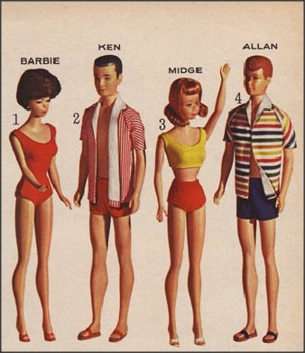 Elongated. 1950sunlimited:  Barbie and The Gang!  Sears, 1964