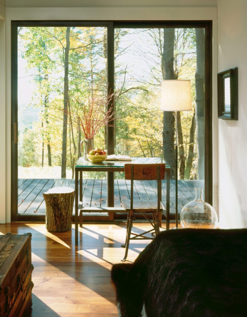 Nestled in the clearing of a forest in upstate NY » designed by Incorporated Studio | via
