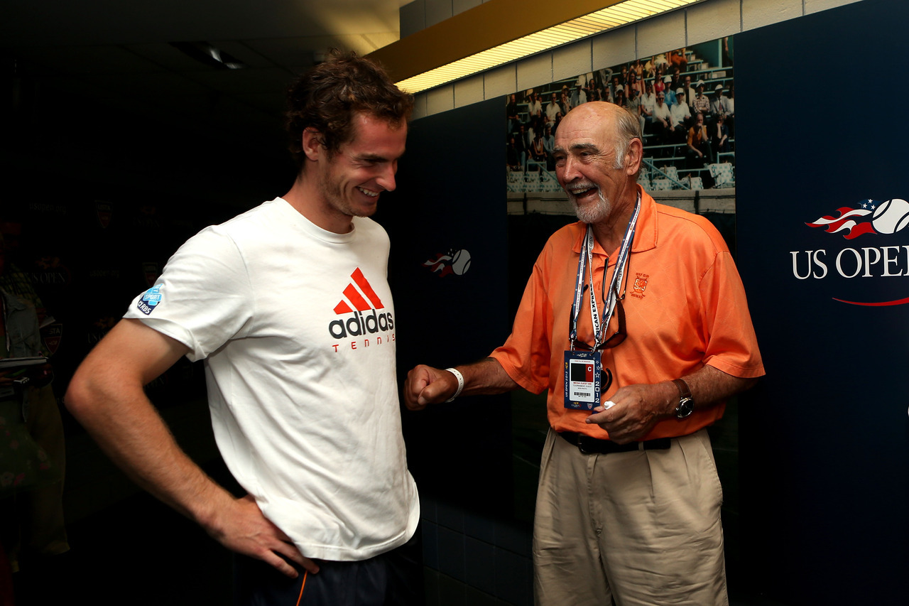 Great Scots! It's Andy Murray and Sean Connery at the U.S. Open!Photo: Matthew Stockman/Getty Images