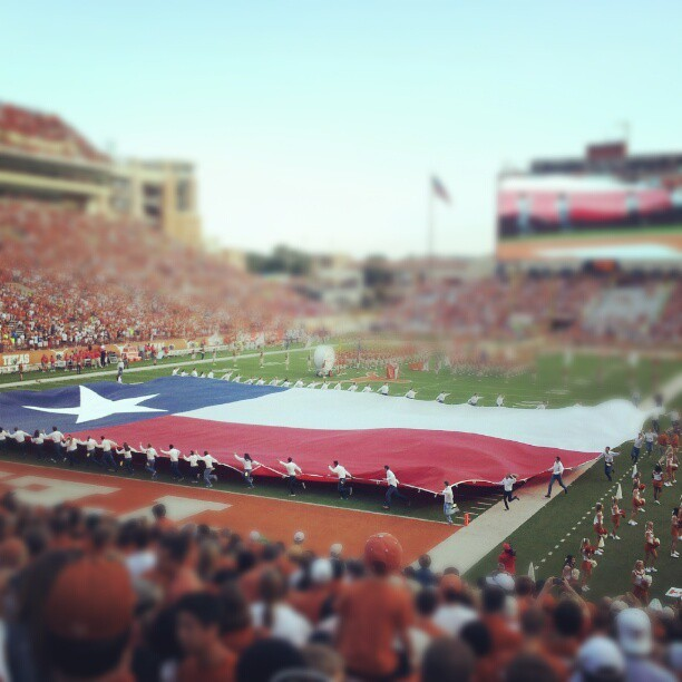 Texas Forever. #hookem #RISE  (Taken with Instagram at Darrell K Royal Texas Memorial Stadium)