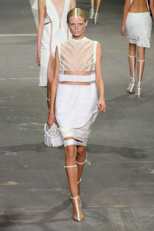 suicideblonde:  Alexander Wang Spring/Summer 2013 Sleek, clean, modern - I wanna live inside this world he's created.  #Ivy day looks