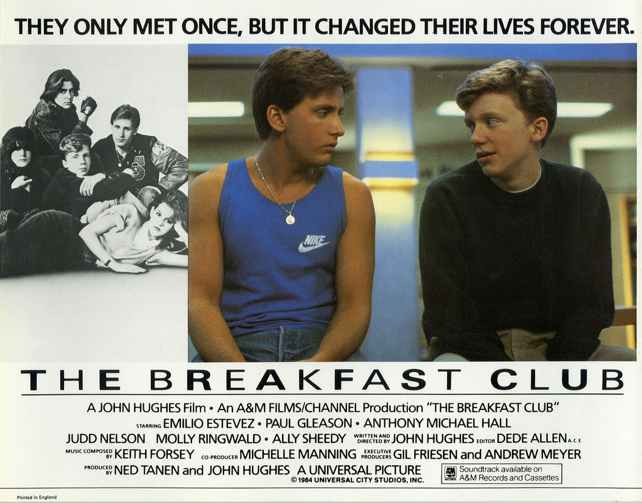 The Breakfast Club, British lobby (front of the house) card. 1985
