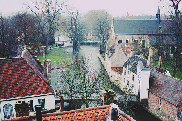 | ♕ |  misty canal - Bruges  | by © christine.m.kim