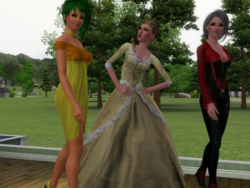 animesimyaoilover:  Claret, Lilith and Argent Sims 3 style!! They are for my project I am doing for the amazing E and CC :)