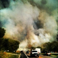 A fire problem about the road… (Taken with Instagram)