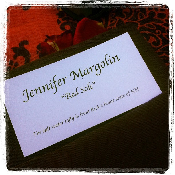 My name tag at my seat tonight.  (Taken with Instagram)