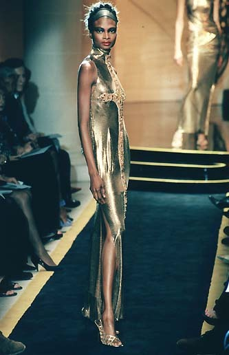 Debra Shaw at Versace Atelier by Gianni Versace, July 1997