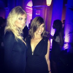 Carine Roitfeld and her cover girl Kate Upton. KS @crbook (Taken with Instagram at The Frick Collection)