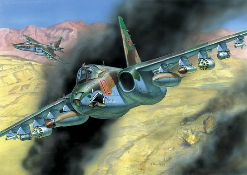 blazerazgriz1:  Su-25tm Frogfoot, Russian attacker created for the same purpose as the American A-10 Thunderbolt II