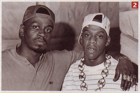 Jay-Z with early mentor Jaz-O in 1989.