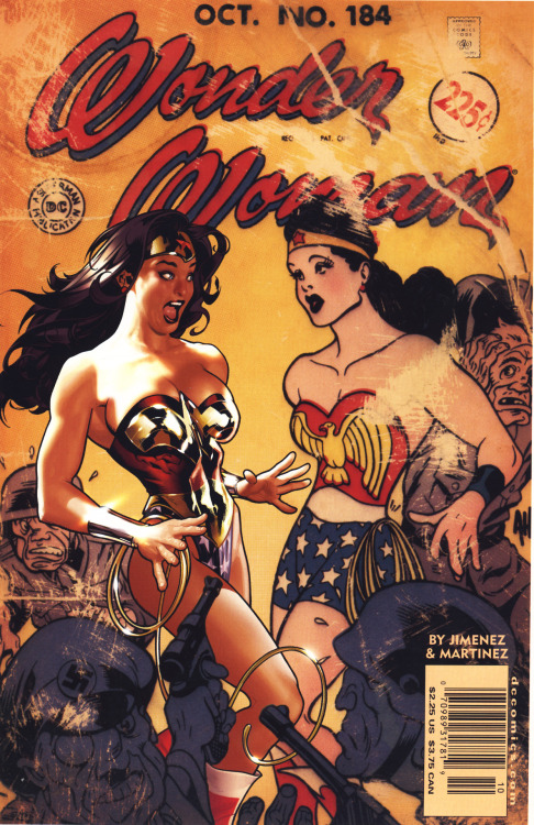 comicbookcovers:  Wonder Woman #184, October 2002, cover by Adam Hughes