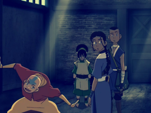 lingerieyao:  emotionbending:  u ok aang?  i'm kind of concerned about sokka tbh  How bout Katara… she looks kinda crazed… And Toph is just like…. Orphan… the horror movie? You know, Isabelle Fuhrman when she was like 11 would have been a PERFECT toph, don't you think? Too old now though.