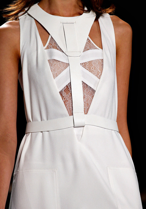 White leather harness at BCBG Max Azria Spring 2013 RTW Source: Vogue.com