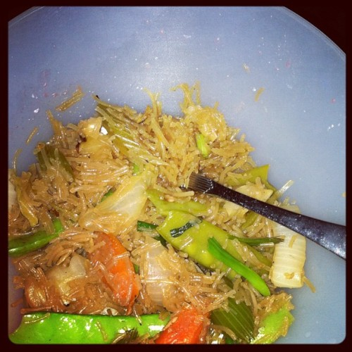 I managed to make my Lola's recipe for pansit! :) (Taken with Instagram)