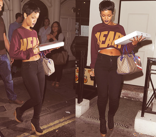 roheartlessro:   Rihanna leaving the tattoo parlor in Soho-Sept.8.12  yaaaaaaaaaaaaaas! I'm loving her hair like this!!!