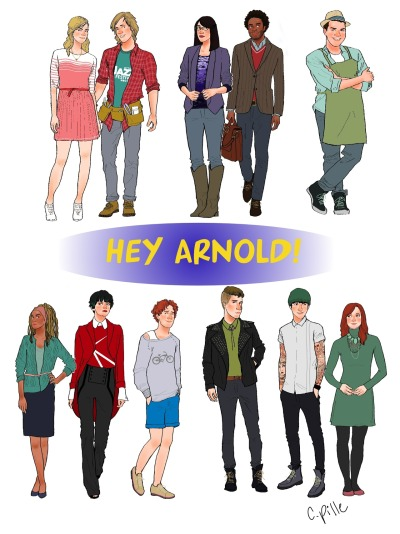 fuckyeahhelgapataki:  celestedoodles:  Hey Arnold kids grown up and in their twenties. Individual designs here   RHONDA!!!!!!!  THIS IS THE BEST THING IN THE WORLD. Gerald turned out FINE.