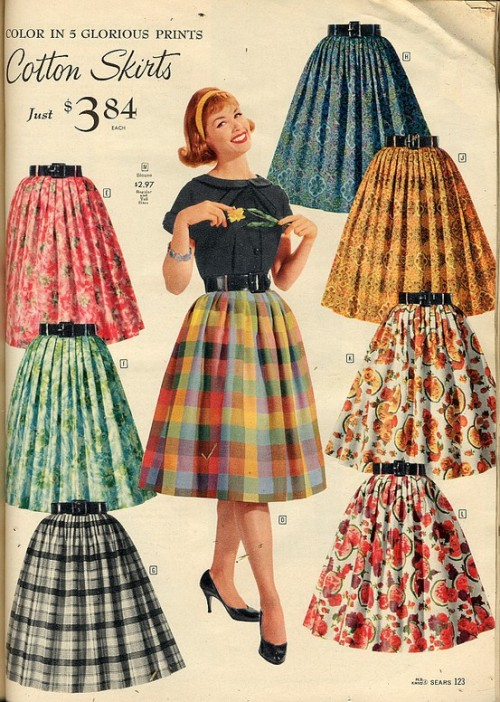 sparkletonecity:  Sears catalog, skirts!