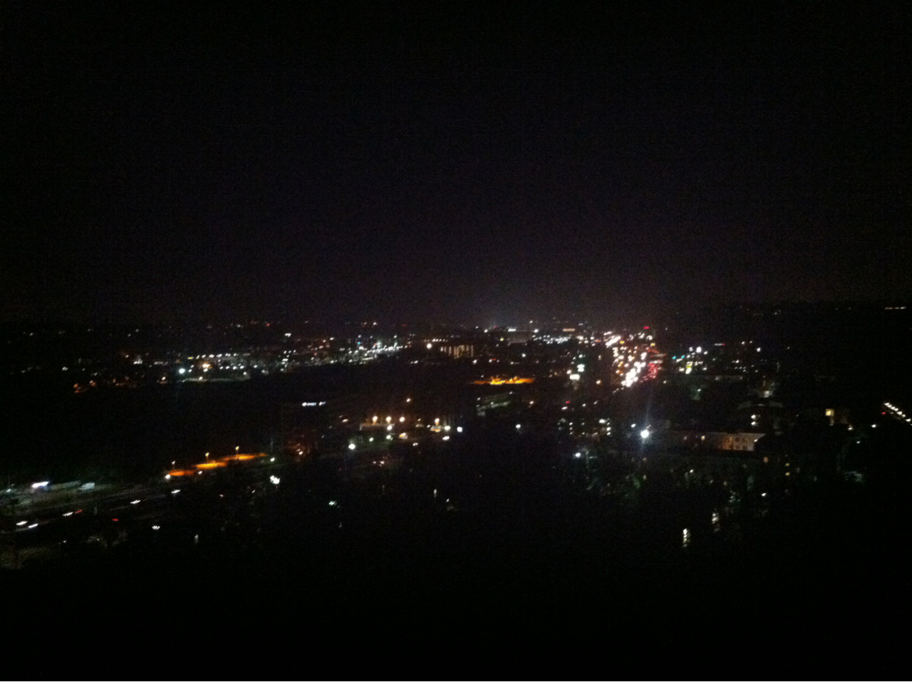 The night view from my friends grandmas house, San Diego and Nagasaki look a lot alike from above!