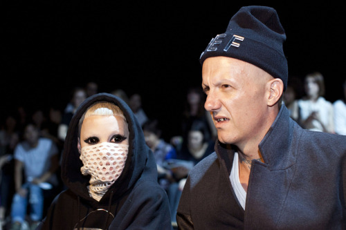 gothist:  bleedgold:  Die Antwoord at Alexander Wang S/S 13  what the actual fuck.