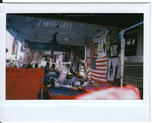 Warped Tour merchland. Polaroid. Orlando, FL. ©Maddie Casey 2012 view from Bayside, down through Fireworks, Polar Bear Club, I FIght Dragons, Lostprophets tents.