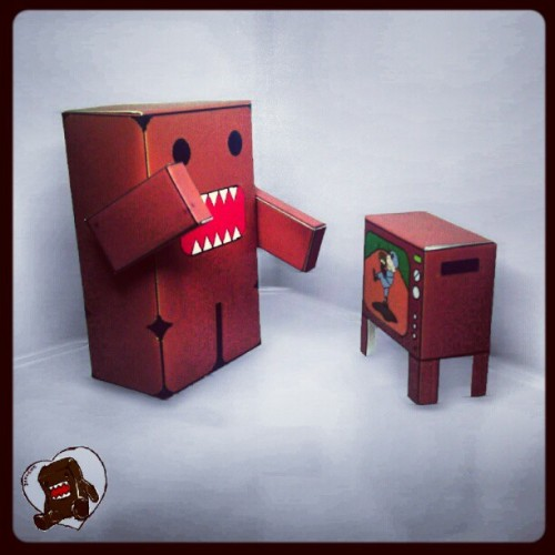 #DIY #3d #papercraft #DOMO #CARTOON #cute… download link http://goo.gl/phtBc (Taken with Instagram)