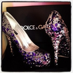 Dolce & Gabbana Sequin Heels (Taken with Instagram)
