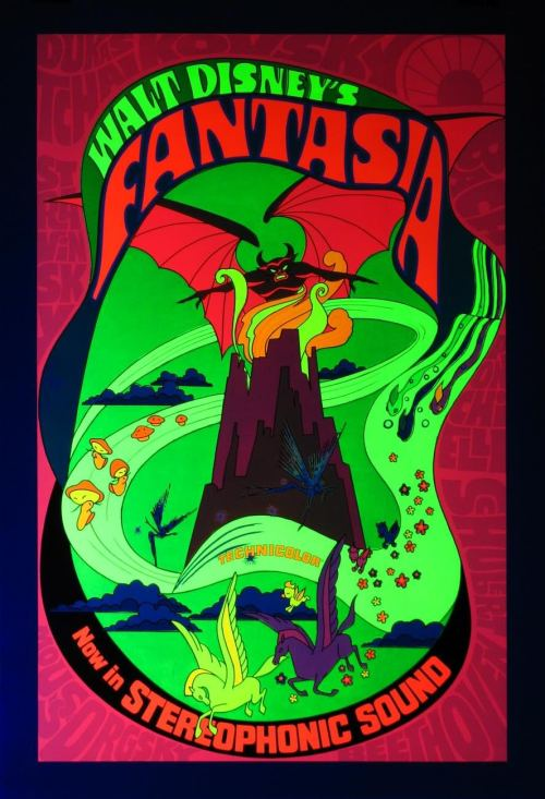 porkmagazine:  FANTASIA BLACK LIGHT POSTER. YES PLEEEZ.