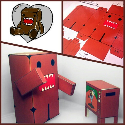 #Domo #cartoon #papercraft #goo.gl/phtBc #DIY  (Taken with Instagram)