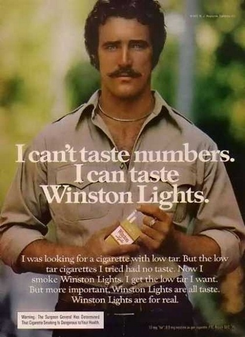 Winston Lights advertisement, 1977.