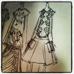 4 years on and I'm back to fashion design.  (Taken with Instagram)
